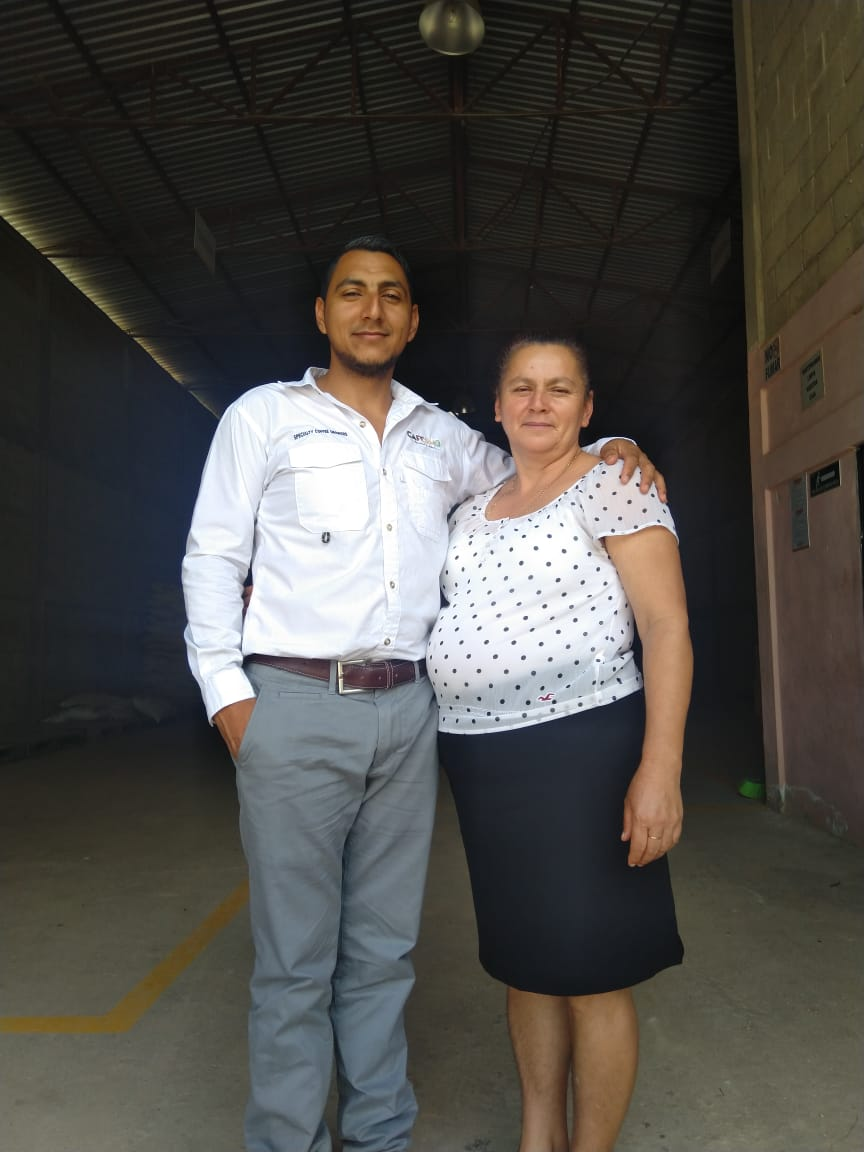 Our founder and his mom, third and fourth generation coffee farmers!