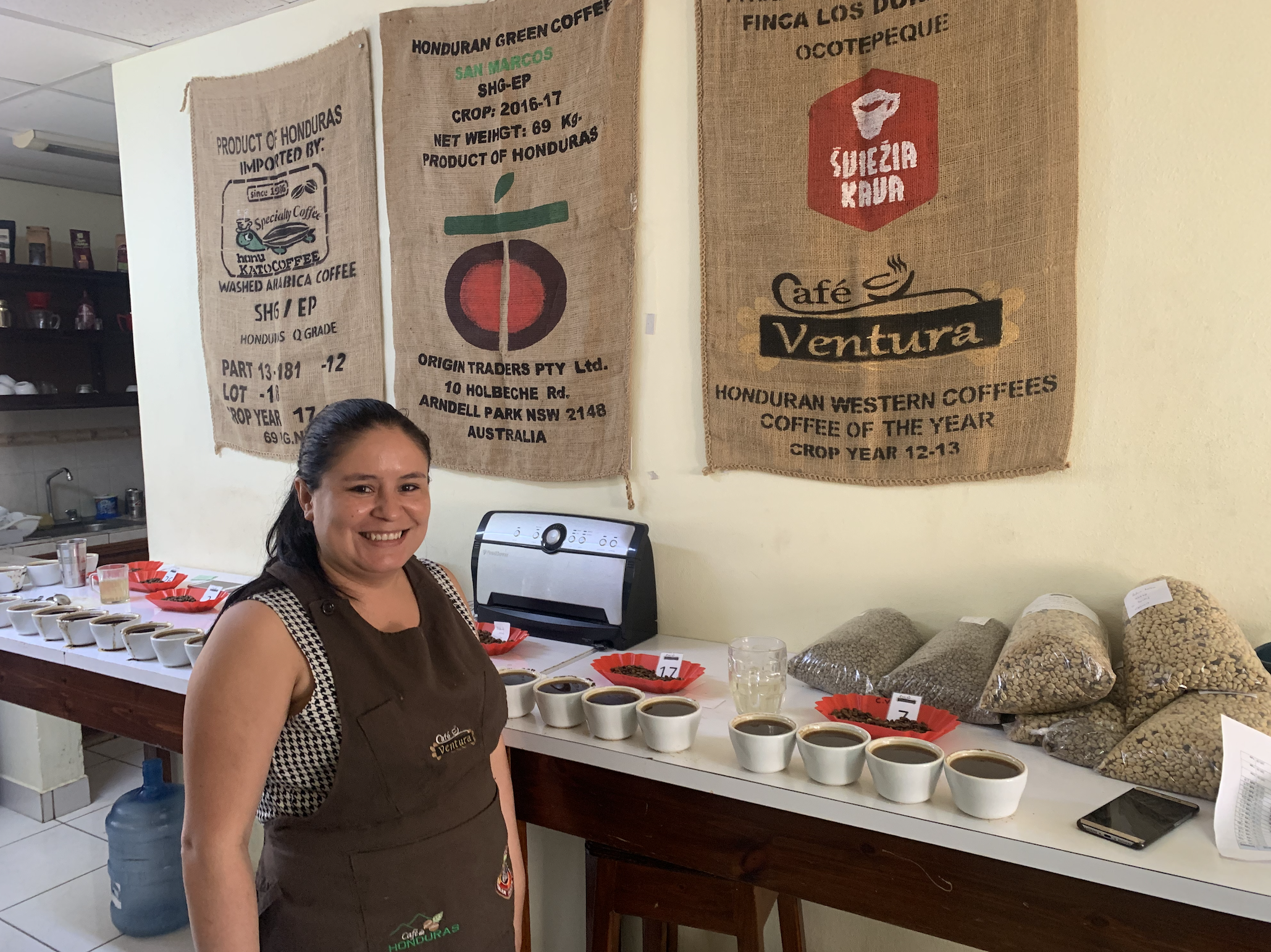 Our Q-Grader Silvia, ready for a cupping session